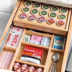 Built in K Cup Organizer - Popular Kitchen Trends