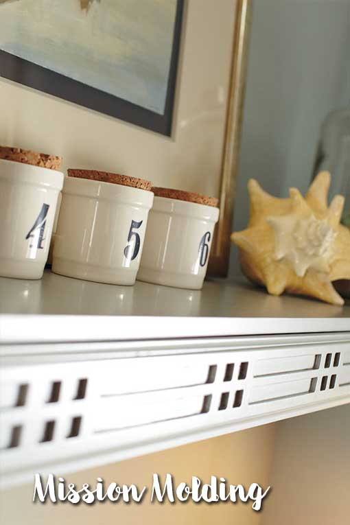 Mission Molding is a cabinet embellishment that adds great style to your home.