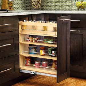 Pull out cabinet organizer