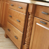 Semi custom kitchen cabinet feet