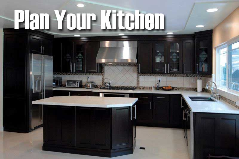 Plan your new kitchen with Cabinet Wholesalers. Get a free estimate on kitchen cabinets.