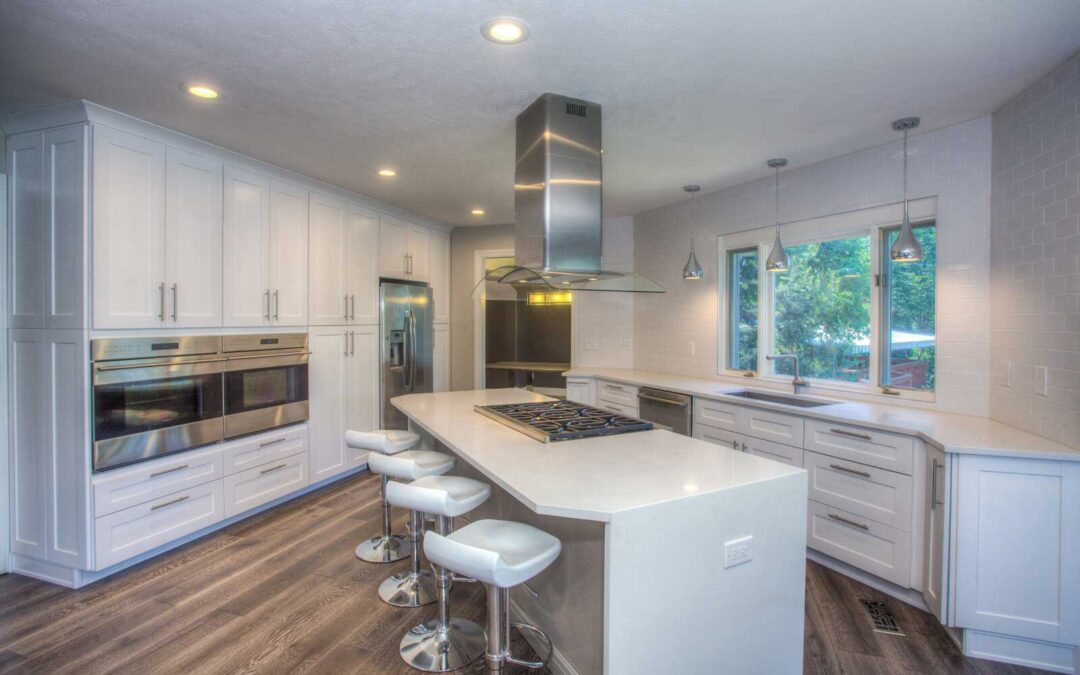 White shaker cabinets are perfect for your kitchen remodeling project